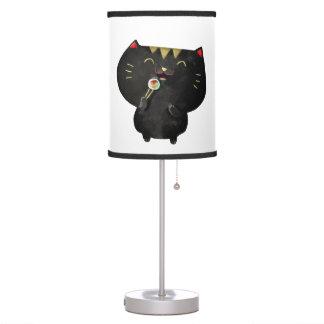 Cute Kawaii Black Sushi Cat Table Lamp