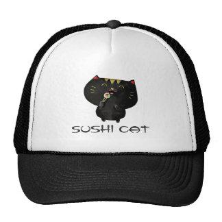 Cute Kawaii Black Sushi Cat Trucker Hat