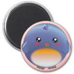 Cute kawaii bluebird magnet