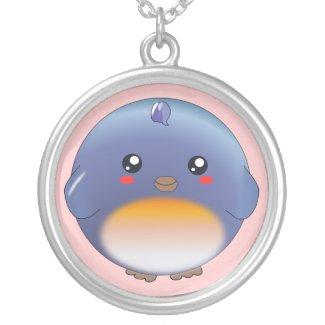 Cute kawaii bluebird necklace necklace