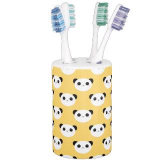 Cute Kawaii Blushing Panda Face Pattern Bathroom Set