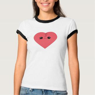 Cute Kawaii Broken Heart Ringer T-shirt