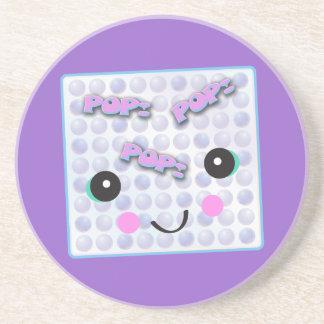 Cute Kawaii Bubble Wrap Sandstone Coaster