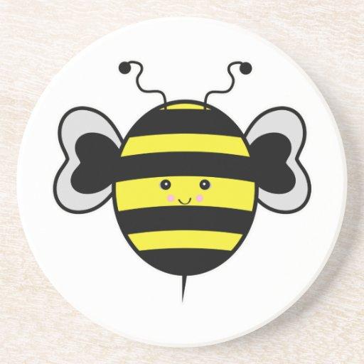 cute kawaii bumble bee coasters