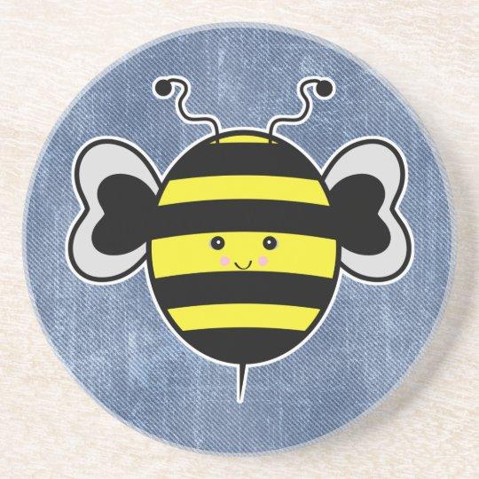 cute kawaii bumble bee drink coaster