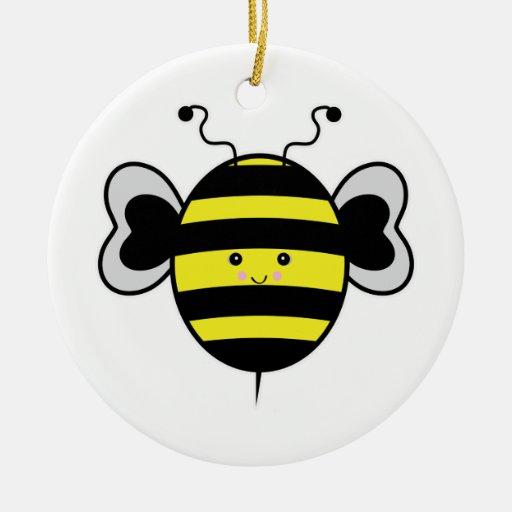cute kawaii bumble bee ornament