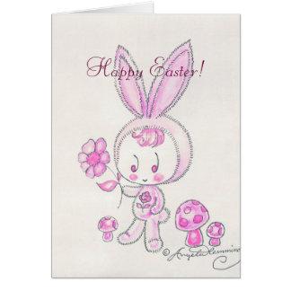 Cute kawaii bunny kid card