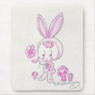 Cute kawaii bunny kid mouse pad