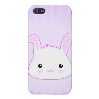 Cute Kawaii Bunny Rabbit Face in Lilac and White iPhone SE/5/5s Case