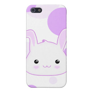 Cute Kawaii Bunny Rabbit Face in Lilac and White iPhone SE/5/5s Cover