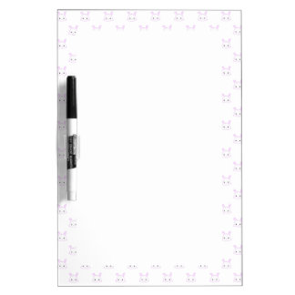 "Cute Kawaii Bunny Rabbit Face ""Polka Dot"" Pattern Dry-Erase Board"