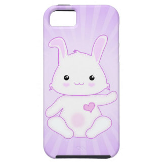 Cute Kawaii Bunny Rabbit in Purple and Lilac iPhone 5 Covers
