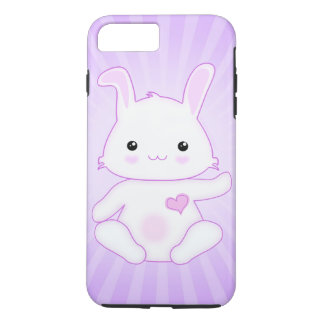 Cute Kawaii Bunny Rabbit in Purple and Lilac iPhone 7 Plus Case