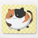 Cute Kawaii Calico Kitty Cat Mouse Pad at Zazzle
