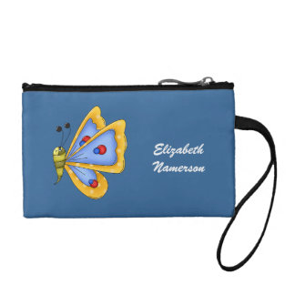 Cute Kawaii Cartoon Colorful Butterfly Insect Bug Change Purse