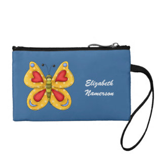 Cute Kawaii Cartoon Colorful Butterfly Insect Bug Coin Purse