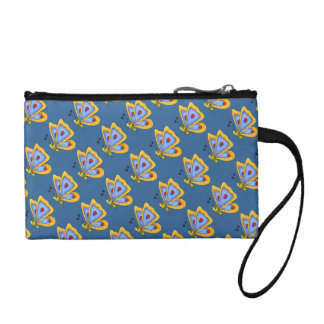 Cute Kawaii Cartoon Colorful Butterfly Insect Bug Coin Wallet
