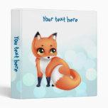 Cute Kawaii cartoon fox Binder