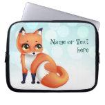 Cute Kawaii cartoon fox Computer Sleeves