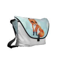 Cute Kawaii cartoon fox Courier Bag