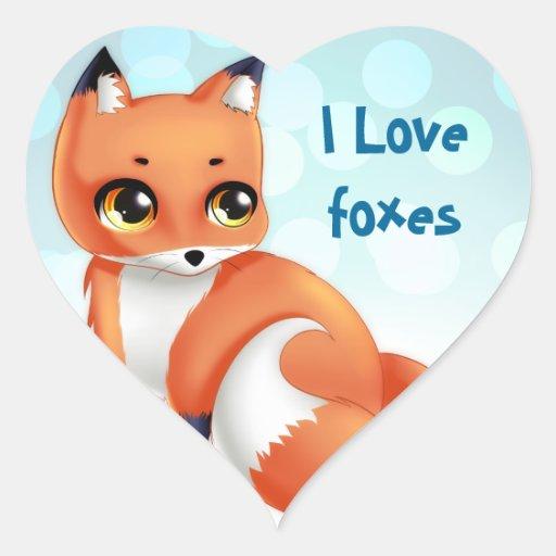 Cute baby cartoon foxes
