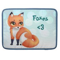 Cute Kawaii cartoon fox MacBook Pro Sleeve