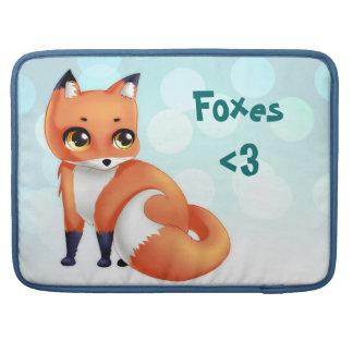 Cute Kawaii cartoon fox Sleeve For MacBooks