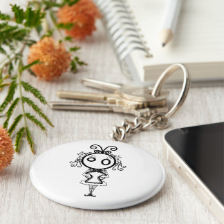 Cute Kawaii Cartoon Girl Keychain