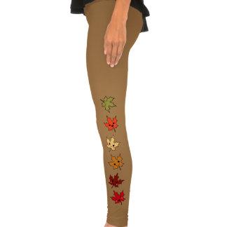 Cute Kawaii Cartoon Leaves Legging Tights