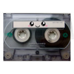 Cute Kawaii Cassette Tape Card