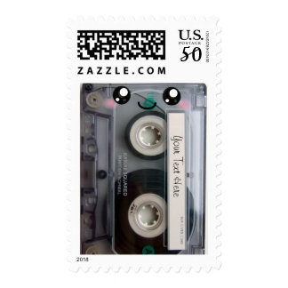 Cute Kawaii Cassette Tape postage stamps