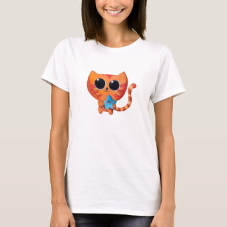 Cute Kawaii Cat with Star T-Shirt