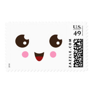 Cute kawaii character postage stamps