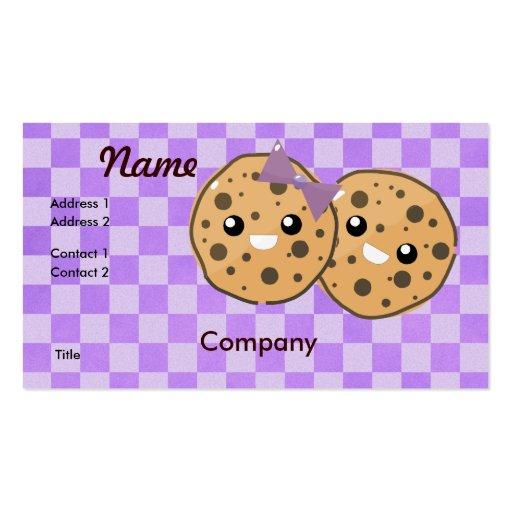 Cute kawaii business card templates page7 bizcardstudio cute kawaii chocolate chip cookie couple business card templates colourmoves