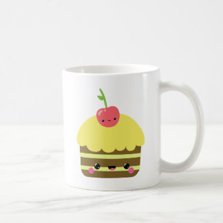 Cute Kawaii Chocolate Lemon Cake Coffee Mug