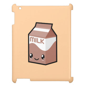Cute Kawaii Chocolate Milk Carton iPad Case