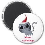Cute Kawaii Christmas Cat Refrigerator Magnet