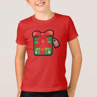 Cute Kawaii Christmas Present Kids Tshirt