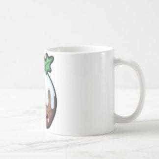 Cute Kawaii Christmas Pudding Mug