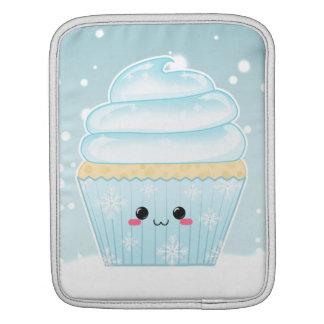 Cute Kawaii Christmas Snowflake cupcake Sleeve For iPads