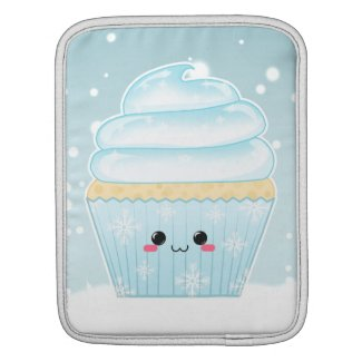 Cute Kawaii Christmas Snowflake cupcake rickshawsleeve