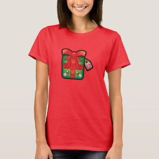Cute Kawaii Christmas Tree Womens Present Tshirt