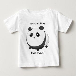 Cute Kawaii chubby panda bear Baby T-Shirt