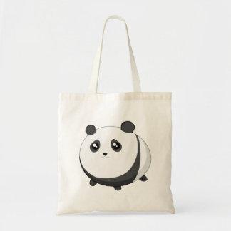Cute Kawaii chubby panda bear Budget Tote Bag