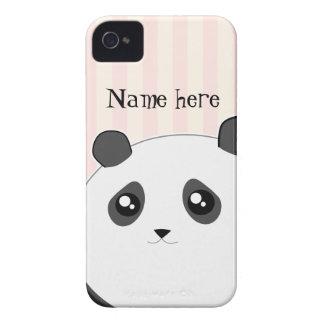 Cute Kawaii chubby panda bear iPhone 4 Case-Mate Case