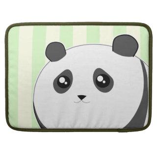 Cute Kawaii chubby panda bear Sleeve For MacBooks