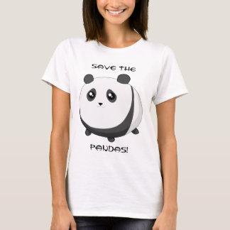 Cute Kawaii chubby panda bear T-Shirt
