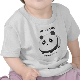 Cute Kawaii chubby panda bear Tees
