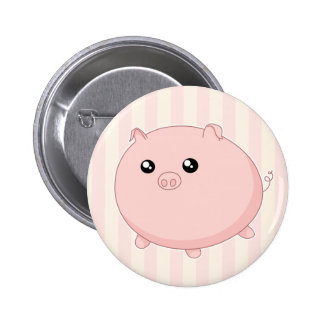 Cute Kawaii chubby pink pig 2 Inch Round Button