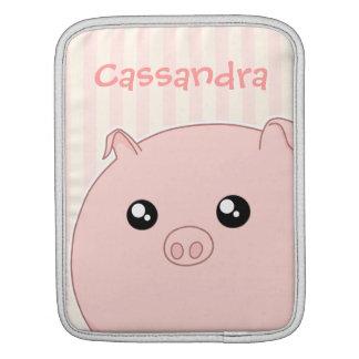 Cute Kawaii chubby pink pig iPad Sleeves